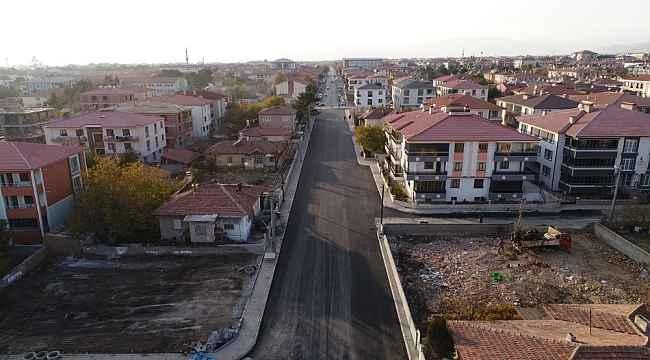 Uğurhan Tunçata Caddesinde yol genişletme çalışmaları tamamlandı