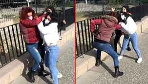 Uyuşturucu tacirinin yakınları kadın muhabiri darp etti