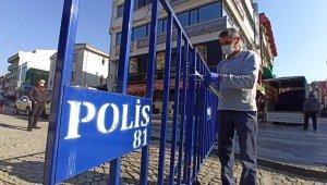 Vakalar arttı, Düzce'de en yoğun caddede giriş çıkışlar sınırlandırıldı