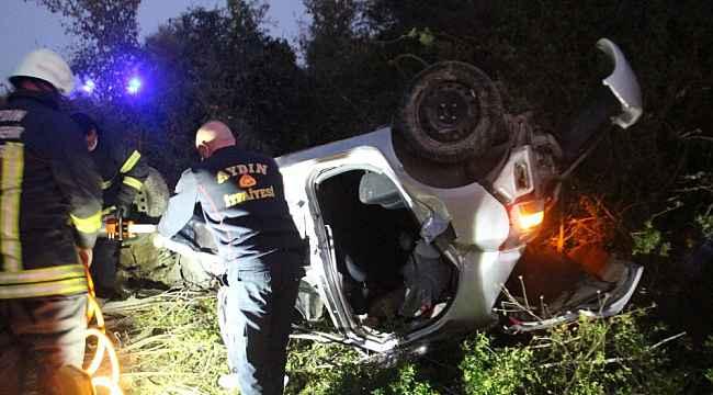 Virajı alamayan araç tarlaya uçtu, sürücü hayatını kaybetti