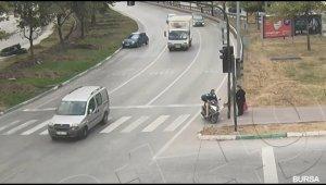 Bursa'daki kazada ölüm yarım metreyle teğet geçti