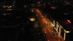 Düzce'de kısıtlamada sokaklar boş kaldı