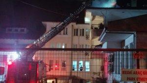 Huzurevindeki baca yangını paniğe neden oldu