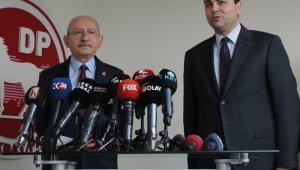 Kılıçdaroğlu, Demokrat Parti Genel Merkezi'ni ziyaret etti