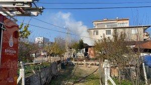 Müstakil evde elektrik kontağından yangın çıktı