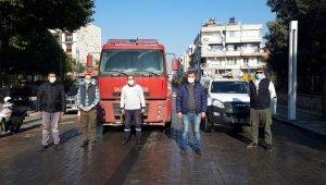 Salihli Belediye ekipleri sokağa çıkma kısıtlamasında sahada çalışıyor
