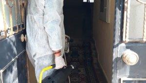 Sarayköy'de ortak kullanım alanları dezenfekte ediliyor