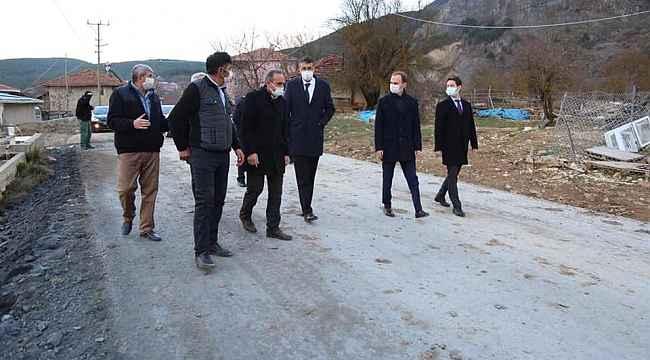 Vali Ali Çelik, Köy yollarını inceledi