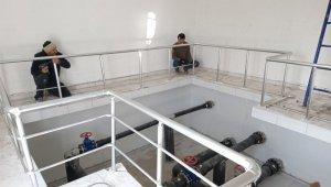 Yapımı tamamlanan su depolarına test