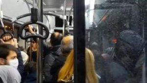 Yolcu otobüsünde son dakika yoğunluğu tartışmaya sebep oldu