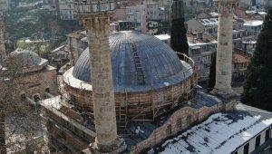 600 yıllık tarihi cami çelik ağlarla örülüyor