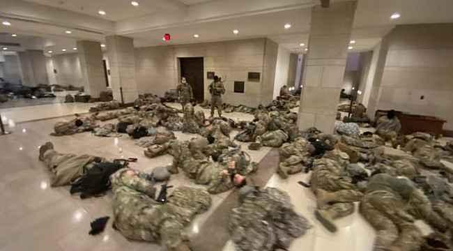 ABD'de Ulusal Muhafızlar, Kongre binasında önlem aldı