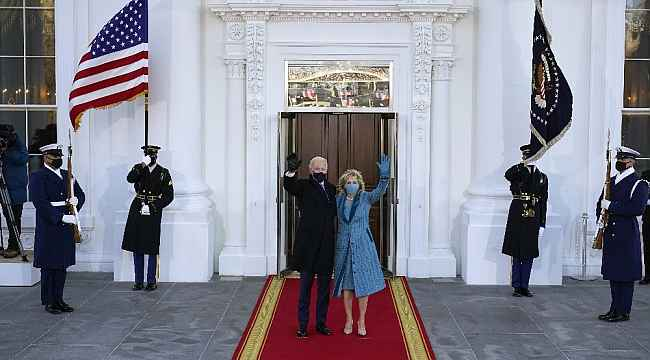 ABD'nin yeni Başkanı Biden Beyaz Saray'da