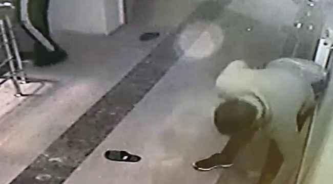 Ağrı'da ayakkabı çalan hırsızlar güvenlik kameralarına yakalandı