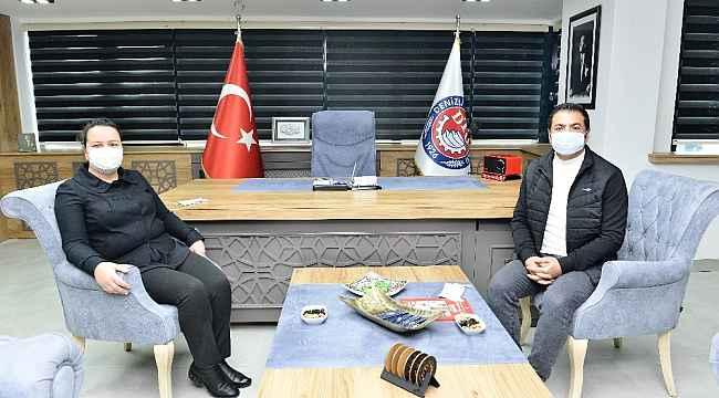 AK Parti Milletvekili Ök, DTO Başkanı Erdoğan'dan Denizli Teknik Tekstil Merkezi hakkında bilgi aldı