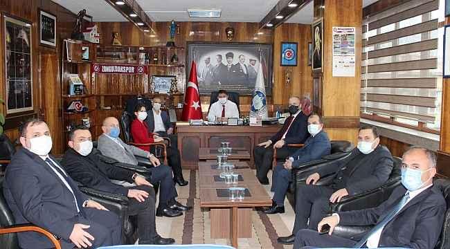 AK Parti'den GMİS'e taziye ziyareti