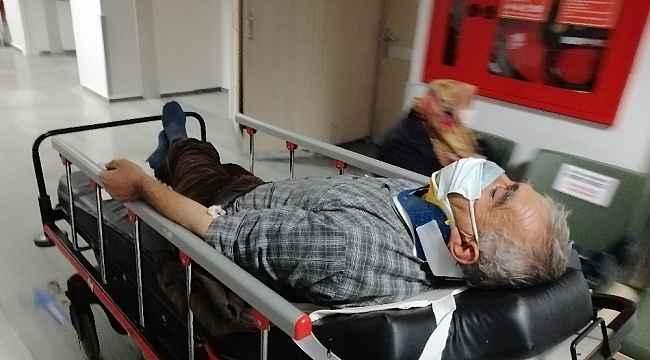 Aksaray'da kamyonet şarampole devrildi: 1 yaralı
