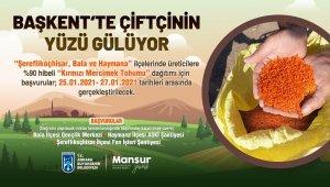 """Ankara Büyükşehir Belediyesi'nden üç ilçede 400 ton """"kırmızı mercimek"""" tohumu hibesi"""