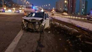 Ankara'da 2 ayrı trafik kazasıı: 3 yaralı