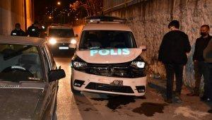 Azılı hırsız, polis aracına çarpınca yakayı ele verdi