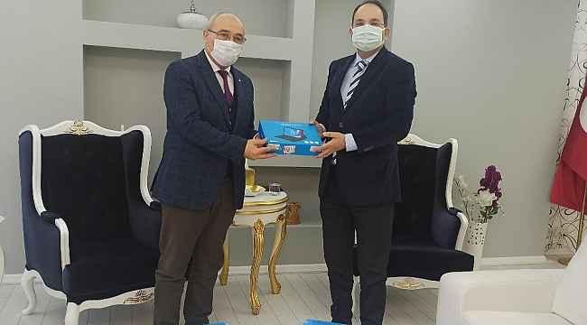 Bafra'da öğrencilere 55 tablet desteği