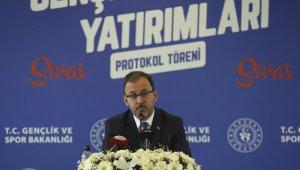 """Bakan Kasapoğlu: """"Sultan Şehir Sivas'ı sporda ve gençlikte de sultan şehir göreceğiz"""""""