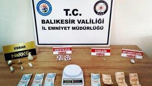 Balıkesir'de 11 uyuşturucu şüphelisinden 1'i tutuklandı