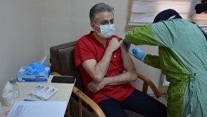 Bartın'da aşı uygulaması başladı