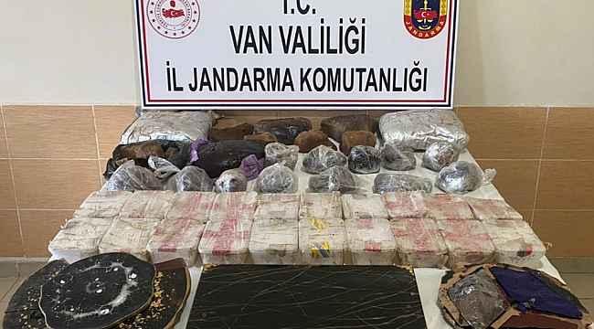 Başkale'de 62 kilo uyuşturucu ele geçirildi