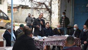 Başkan Bozdoğan, ova mahallelerini gezerek sorunları yerinde inceledi