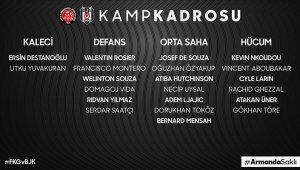 Beşiktaş'ta Karagümrük maçının kadrosu açıklandı