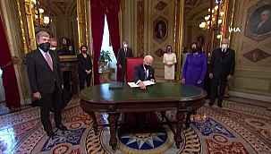 """Biden """"Başkan"""" olarak ilk belgelerini imzaladı"""