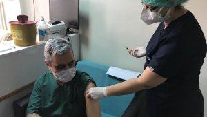 Bilecik'te Korona virüs aşısı yapılmaya başladı