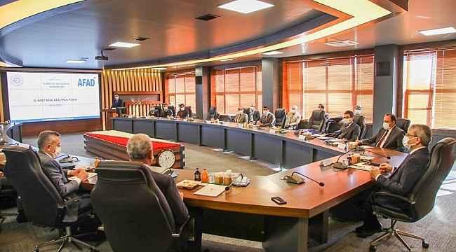 Bingöl'de İl Afet Risk Azaltma Planı toplantısı