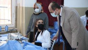 Bismil'de üretiliyor, İtalya'daki sağlık çalışanları giyiyor
