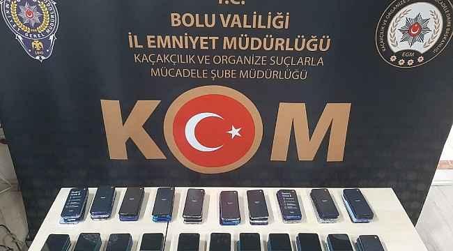 Bolu'da 334 bin liralık kaçak telefon yakalandı