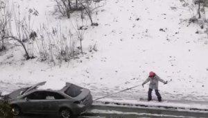 Bursa'da ilginç kar manzaraları... - Bursa Haberleri
