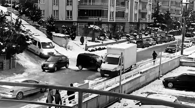 Bursa'da otomobillerin buz dansı - Bursa Haberleri