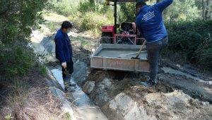Büyükşehir'den tarıma sulama kanalları desteği