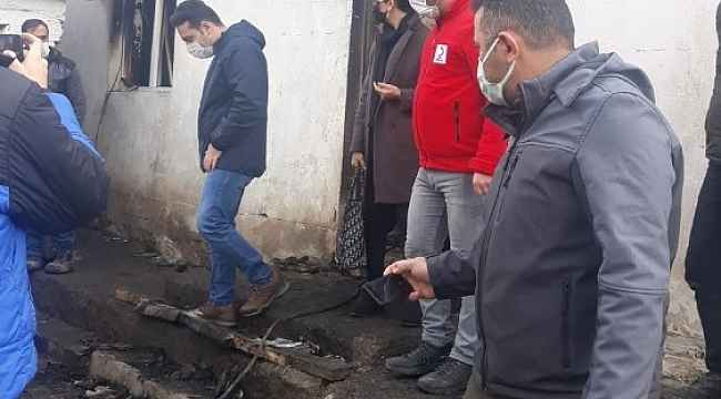 Evi yanan vatandaşa Kızalay'dan yardım eli