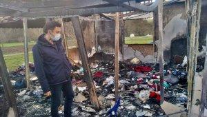 Evleri yanan aileye AK Parti İlçe yönetiminden acil destek ziyareti