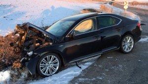 Gümüşhane'de feci kaza: 1 ölü, 2 yaralı