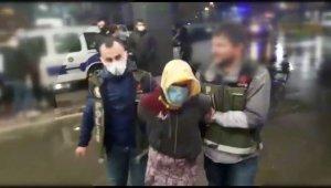 Kesinleşmiş cezası bulunan şahıs kadın kıyafetleriyle yakalandı