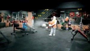 Isparta Belediyesi spor salonlarını dezenfekte etti