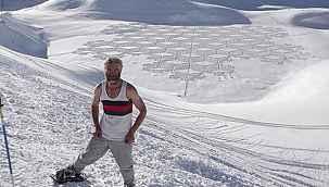 Kar üzerinde bıraktığı iz hayranlık uyandırıyor