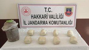 Kara gömülü 8 kilo eroin ile 12 litre asit anhidrit madde ele geçirildi