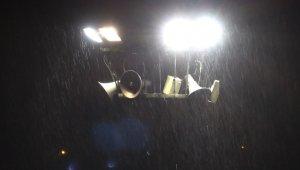 Kırıkkale'de sağanak yağış ve fırtına etkili oldu