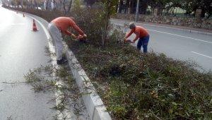 Kısıtlamada kent merkezinde bakım onarım çalışması