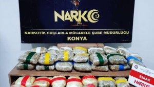 Konya'da 29 kilo 580 gram esrar ele geçirildi