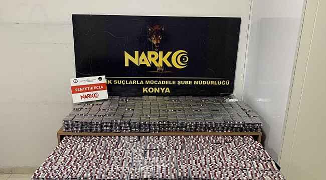 Konya'da 35 bin 616 uyuşturucu hap ele geçirildi